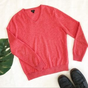 J. Crew Men's V-Neck Cotton Sweater Size M EUC